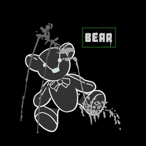 卡通动物潮牌熊印花图案服装裁片T恤卫衣烫图印花花型素材-POP花型网