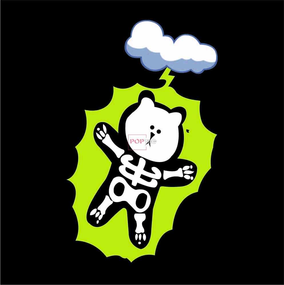 卡通动物潮牌熊云朵印花图案服装裁片T恤卫衣烫图印花花型素材-POP花型网