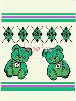 卡通动物潮牌暴力熊印花图案服装裁片T恤卫衣烫图印花花型素材-POP花型网