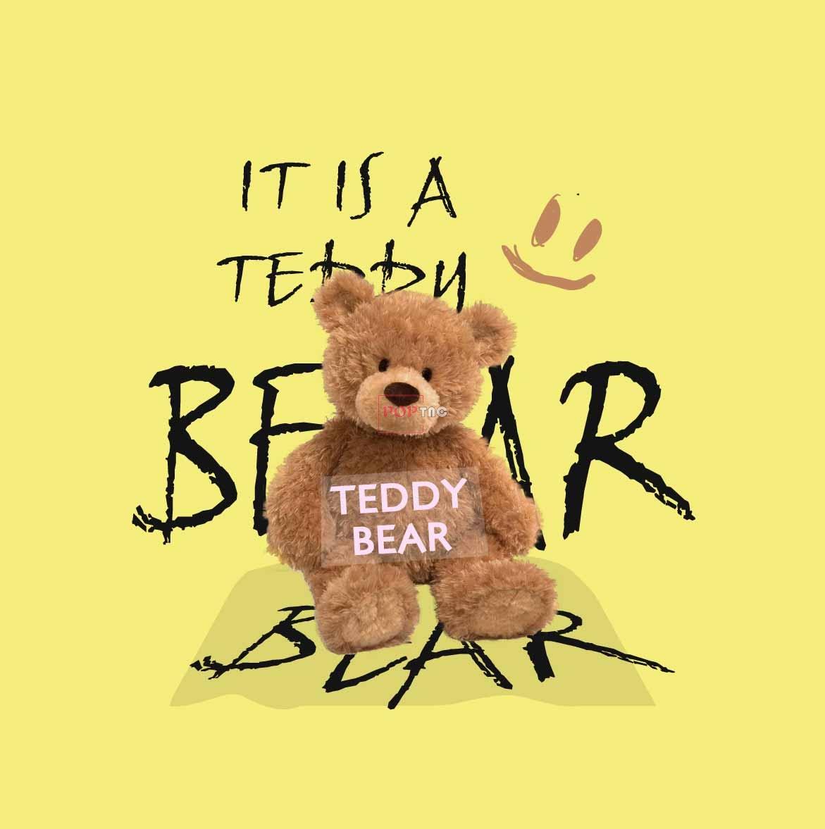 卡通动物潮牌熊花纹字母印花图案服装裁片T恤卫衣烫图印花花型素材-POP花型网