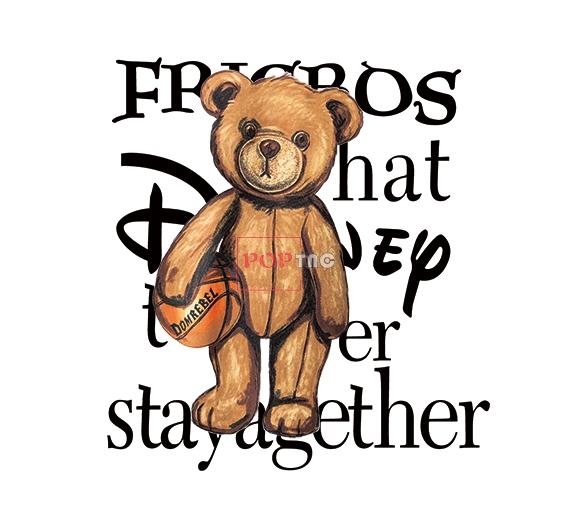 篮球运动熊字母印花图案服装裁片T恤卫衣烫图印花花型素材-POP花型网