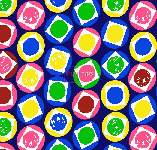 几何色彩图案拼接印花服装纺织面料水印数码印花花型素材-POP花型网