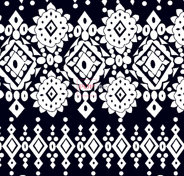 黑白几何图案拼接印花服装纺织面料水印数码印花花型素材-POP花型网