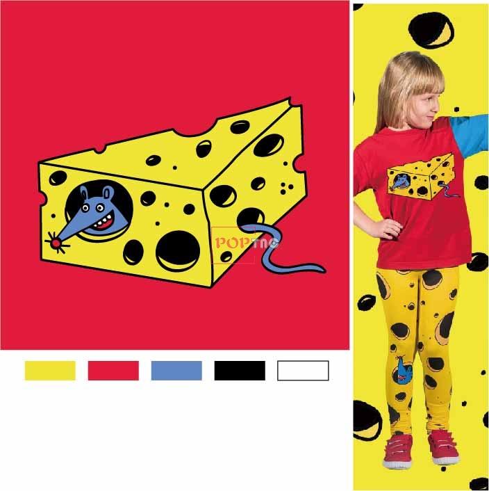 卡通动物老鼠蛋糕印花图案服装裁片T恤卫衣烫图印花花型素材-POP花型网