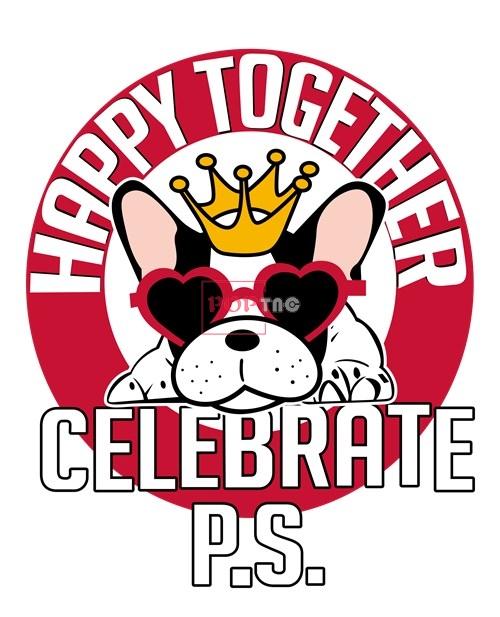 动物小狗皇冠字母印花图案服装裁片T恤卫衣烫图印花花型素材-POP花型网