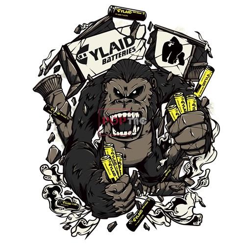 卡通动物大猩猩印花图案服装裁片T恤卫衣烫图印花花型素材-POP花型网