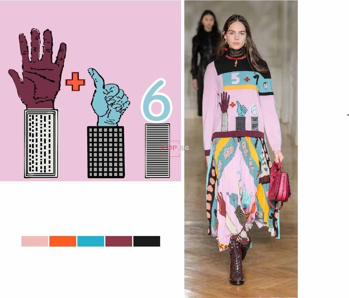 几何图案手掌数字潮牌印花图案服装裁片T恤卫衣烫图印花花型素材-POP花型网