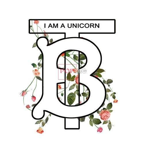 潮牌字母Burberry玫瑰花朵印花图案服装裁片T恤卫衣烫图印花花型素材-POP花型网
