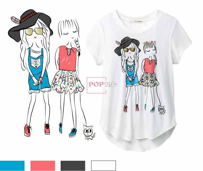 卡通人物印花图案服装裁片T恤卫衣烫图印花花型素材-POP花型网