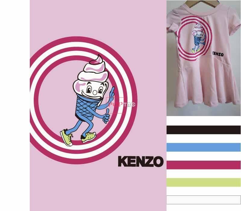 几何图案雪糕字母KENZO印花图案服装裁片T恤卫衣烫图印花花型素材-POP花型网