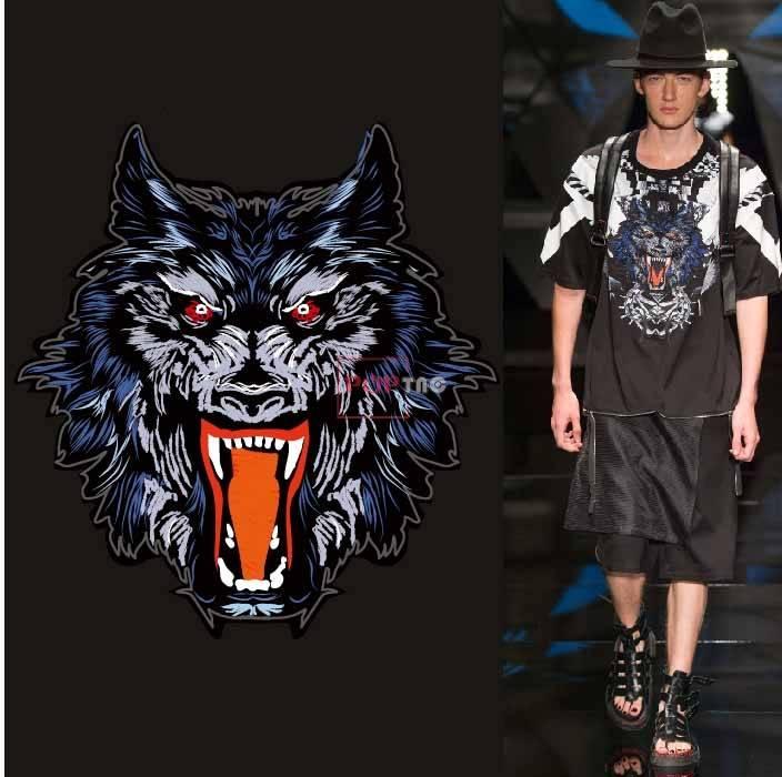 动物狼图腾印花图案服装裁片T恤卫衣烫图印花花型素材-POP花型网