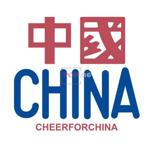 中国CHINA印花图案服装裁片T恤卫衣烫图印花花型素材-POP花型网