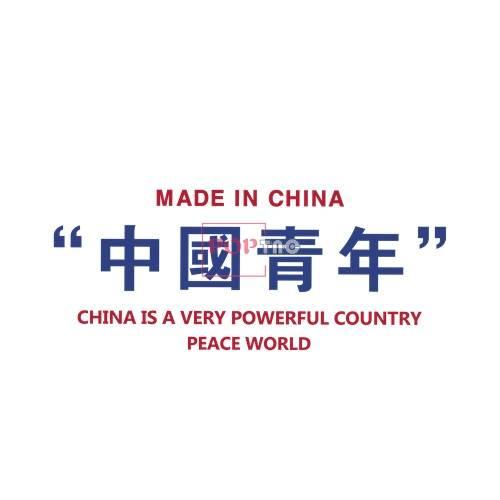 中国青年字母印花图案服装裁片T恤卫衣烫图印花花型素材-POP花型网