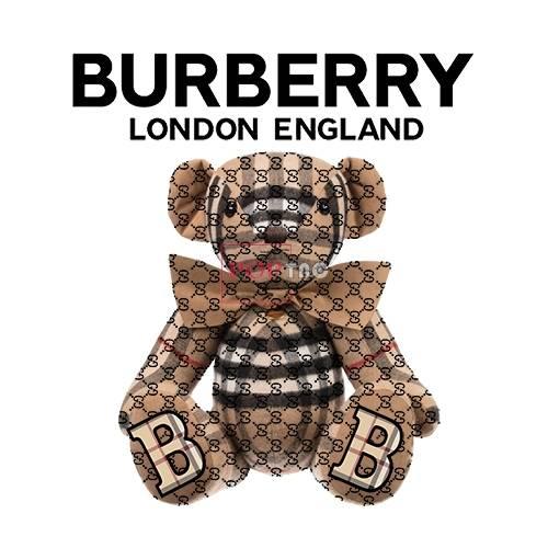 潮牌BURBERRY熊印花图案服装裁片T恤卫衣烫图印花花型素材-POP花型网