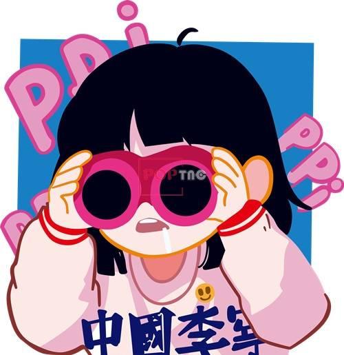 卡通人物中国李宁系列印花图案服装裁片T恤卫衣烫图印花花型素材-POP花型网