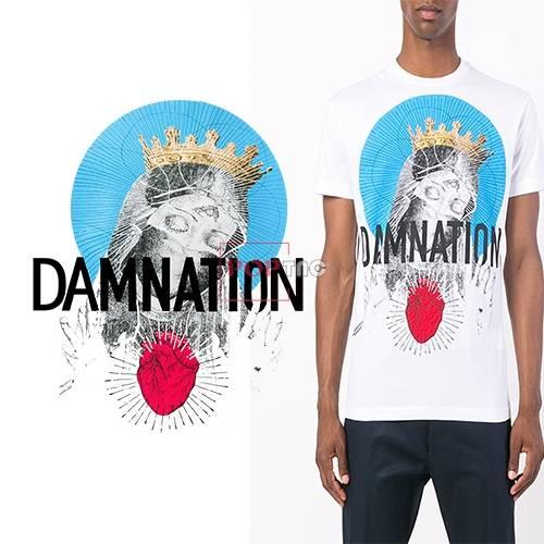 几何人物字母印花图案服装裁片T恤卫衣烫图印花花型素材-POP花型网