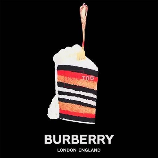 冰淇淋BURBERRY印花图案服装裁片T恤卫衣烫图印花花型素材-POP花型网