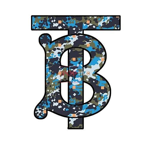 潮牌迷彩BURBERRY印花图案服装裁片T恤卫衣烫图印花花型素材-POP花型网