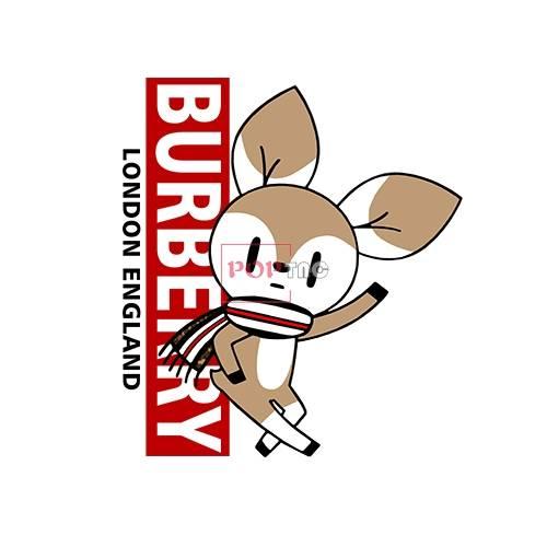 卡通动物小鹿BURBERRY印花图案服装裁片T恤卫衣烫图印花花型素材-POP花型网