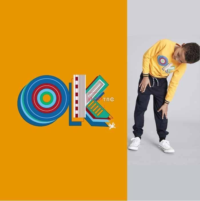字母图案OK印花服装裁片T恤卫衣烫图印花花型素材-POP花型网