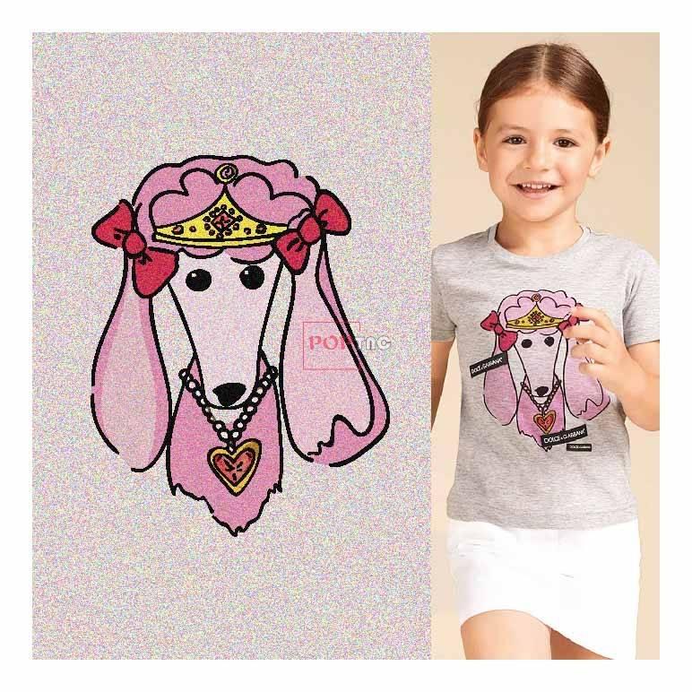卡通动物印花图案服装裁片T恤卫衣烫图印花花型素材-POP花型网