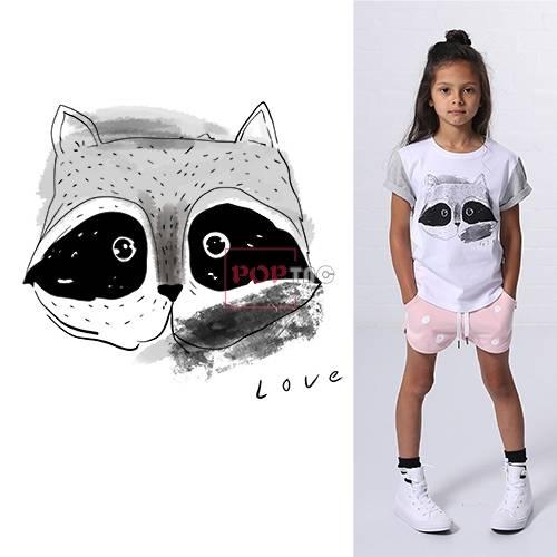 卡通手绘动物小狐狸印花图案服装裁片T恤卫衣烫图印花花型素材-POP花型网
