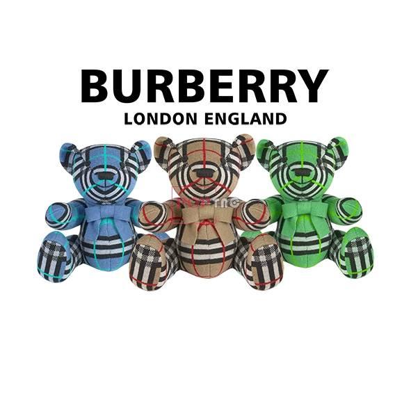 卡通BURBERRY熊印花图案服装裁片T恤卫衣烫图印花花型素材-POP花型网