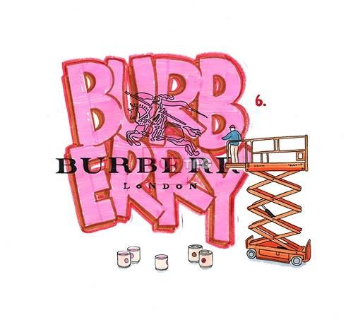 卡通图案潮牌BURBERRY印花图案服装裁片T恤卫衣烫图印花花型素材-POP花型网