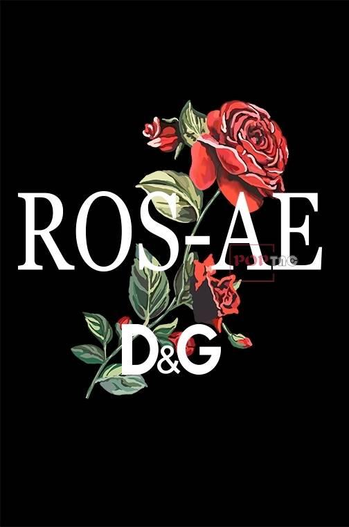 植物玫瑰花字母印花图案服装裁片T恤卫衣烫图印花花型素材-POP花型网