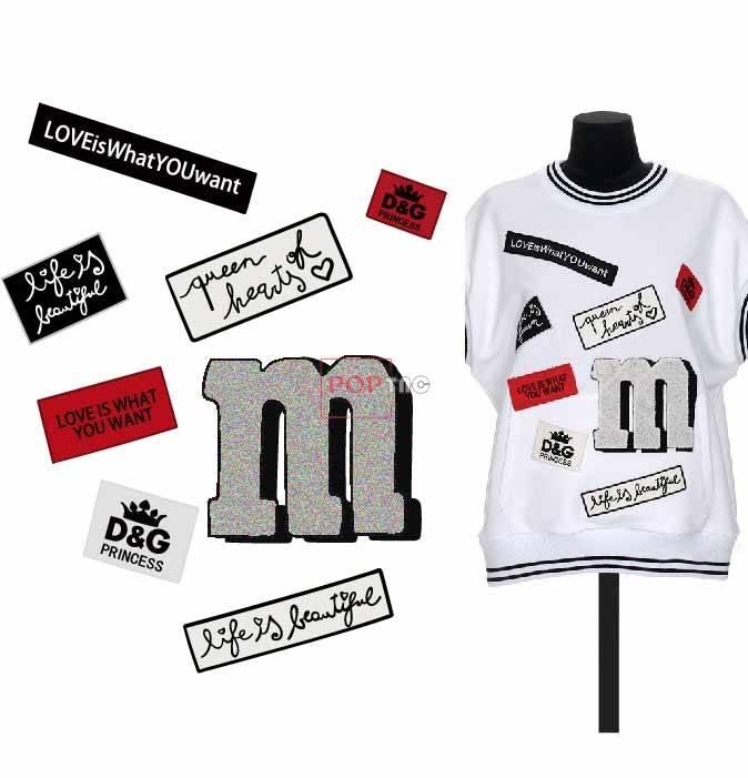 字母图案拼接潮牌伊尼华图案服装裁片T恤卫衣烫图印花花型素材-POP花型网