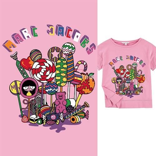 几何卡通棒棒糖字母印花图案服装裁片T恤卫衣烫图印花花型素材-POP花型网