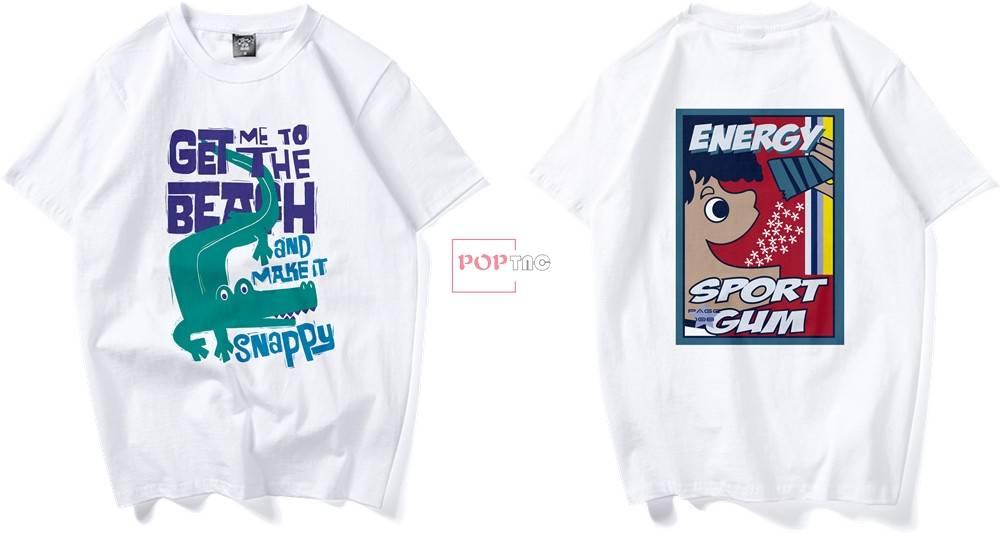 卡通人物鳄鱼字母印花图案服装裁片T恤卫衣烫图印花花型素材-POP花型网