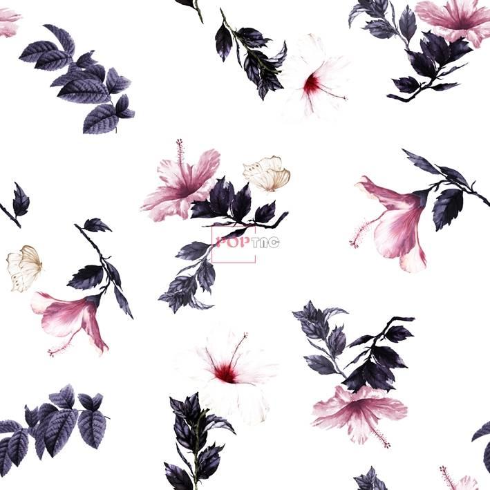 欧美女装花型花卉制版印花图案-POP花型网