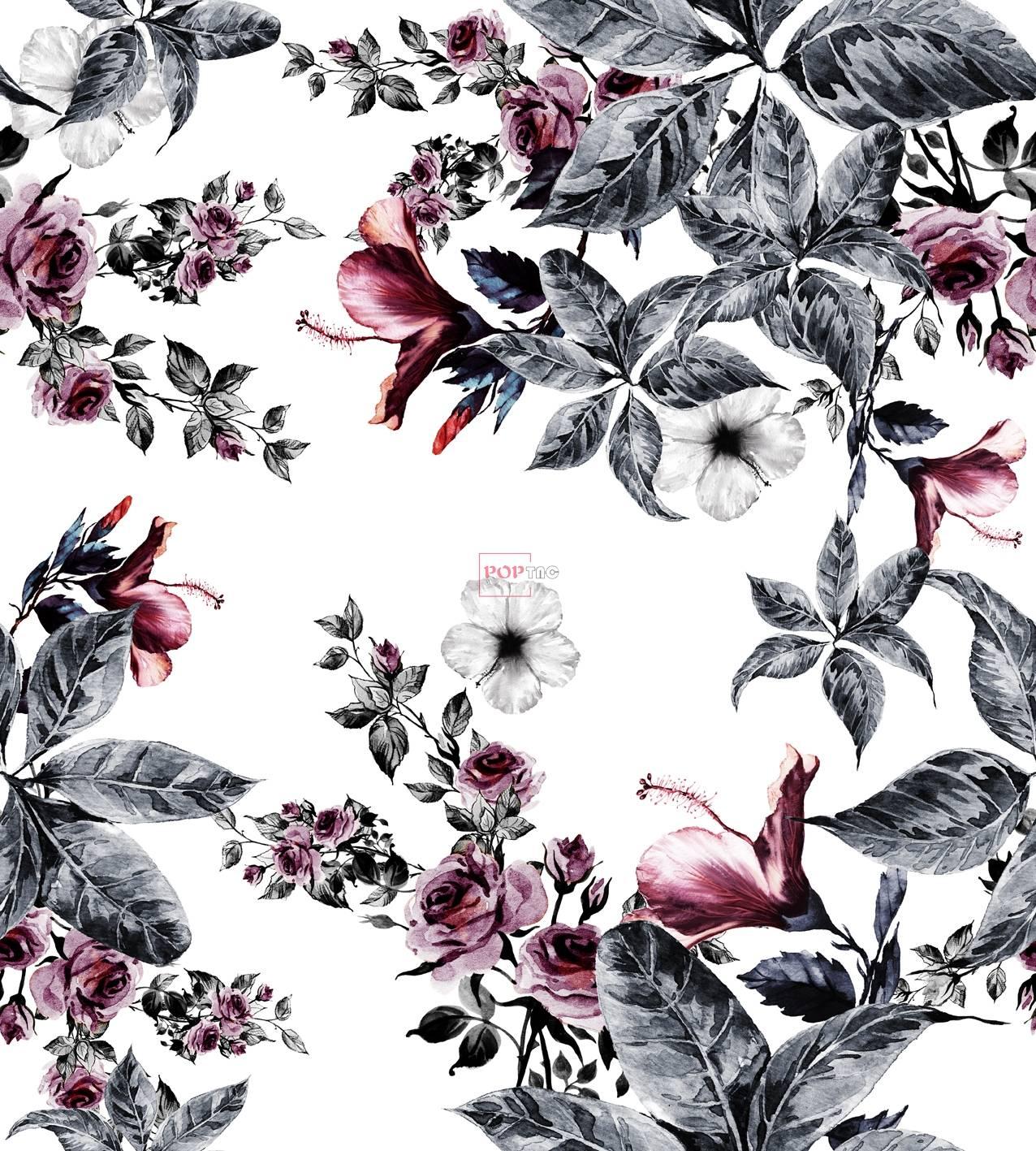 女装花型制版图案花卉印花-POP花型网