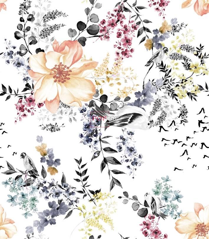 女装花型花卉制版图案设计-POP花型网