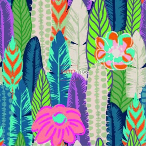多彩植物花卉拼接印花图案服装纺织数码印花花型素材-POP花型网